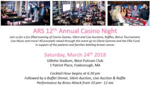 ARS 12th Casino Night -Foxboro, mA