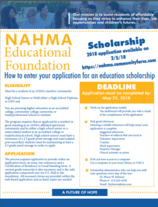 educational foundation flyer 2018